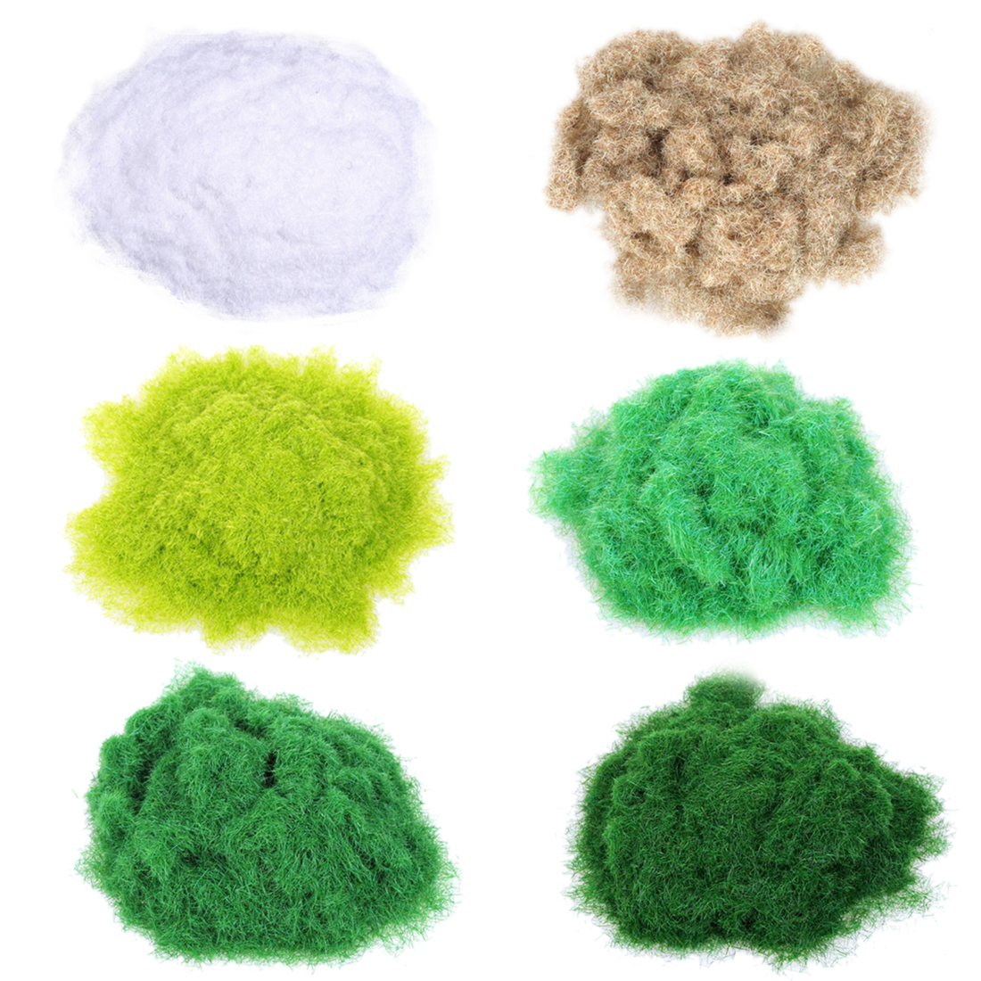 6pcs Artificial Grass Powder DIY Railway Model Sand Table Model Decor  Accessories Toys Hobbies For Kids - Mixed Color