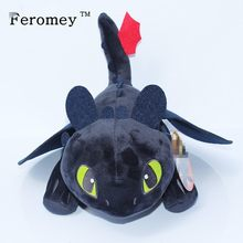 2019 How To Train Your Dragon Toys Night Fury Dragon Plush Doll Toys Toothless Dragon Action Figure Toys Children Kids Gift(China)