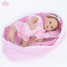 NEW Hot Sale 55cm Reborn Baby Doll Silicone Baby Doll Toys For Girl Vinyl Newborn Baby Filled doll Dollhouse toy lovely Lifelike все цены