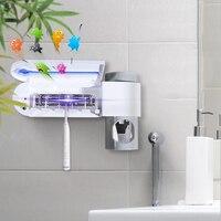 2 в 1 ультрафиолетовый свет зубная щетка стерилизатор зубная щетка держатель Автоматическая комплект для зубной пасты диспенсер для дома ва...