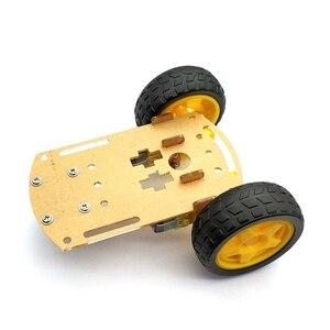 Image 2 - Akıllı Robot araba 2WD Motor şasi/izleme araba kutu kiti hız Encoder pil kutusu ile Arduino Diy kiti için
