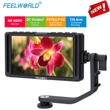 Feelworld F5 5 inch On Camera Field DSLR Monitor Full Small HD 1920x1080 LCD IPS DC Power Output for Camera 4K HDMI Input Output(China)