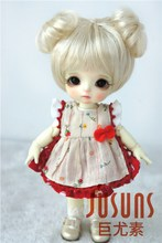 JD301  1/8  Synthetic mohair BJD doll wig   5-6inch double circle concentric tail  Lati yellow size doll accessories jd269 1 8 mohair doll wig lovely double bowl bjd hair size 5 6 inch lati yellow doll accessories