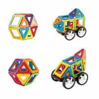 29-129Pcs Big Size Magnetic Building Blocks Educational Toys Magnet Tiles Kit Construction Designer For Kids MAGBROTHER