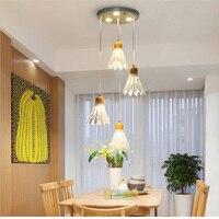 Nordic Suspension Luminaire креативная четырехглавая столовая Освещение лофт Светодиодная лампа Современное железо E27 Подвеска Светлое освещение