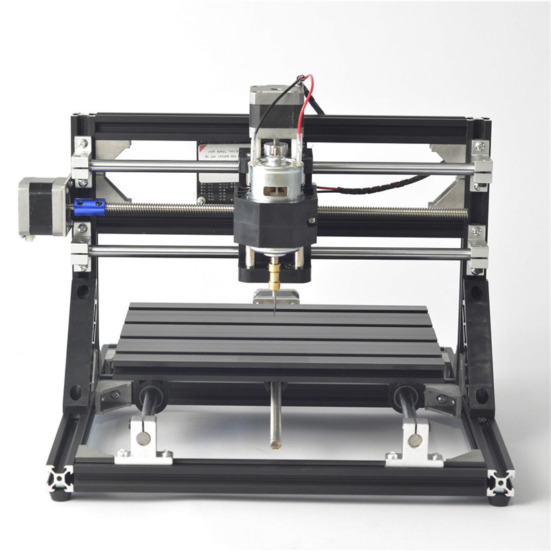 Haute qualité noir 3018 3 axes CNC mobile routeur broche graveur bricolage bois fraisage gravure Machine 300x180mm