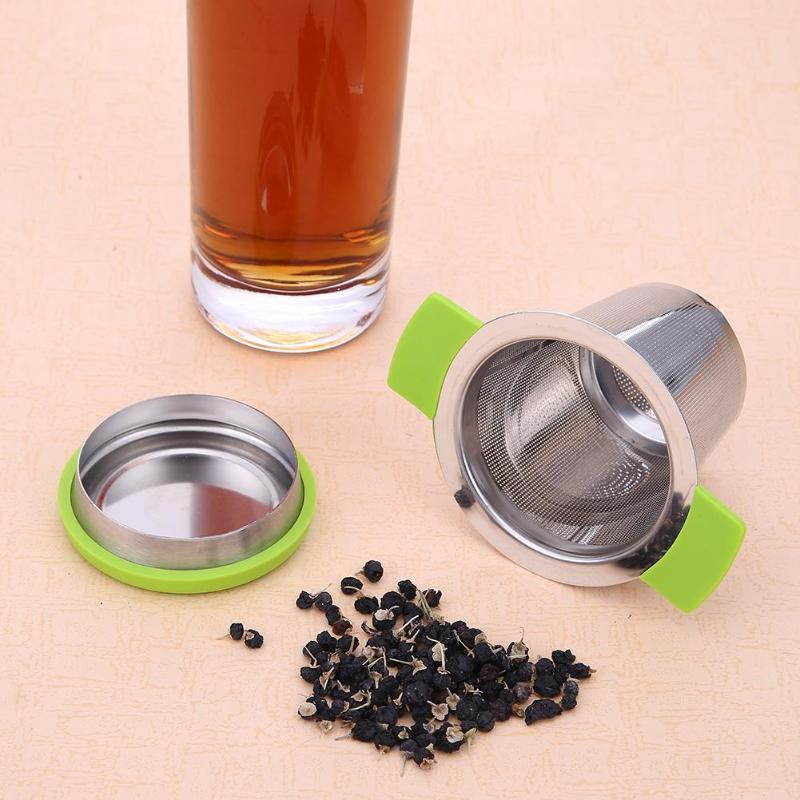 Tea Infuser Basket Fine Mesh Tea Strainer Stainless Steel Reusable With Handles Lid Tea And Coffee Filters For Loose Tea Leaf