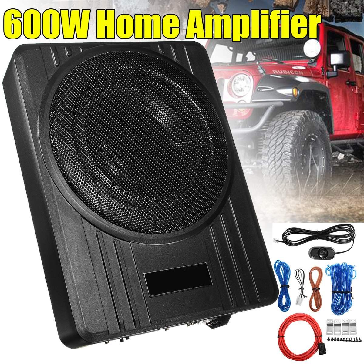 10 pouces 600 W alimenté voiture haut-parleur camion Subwoofer amplificateur amplificateur mince sous-siège Super basse voiture Subwoofer amplificateur haut-parleur