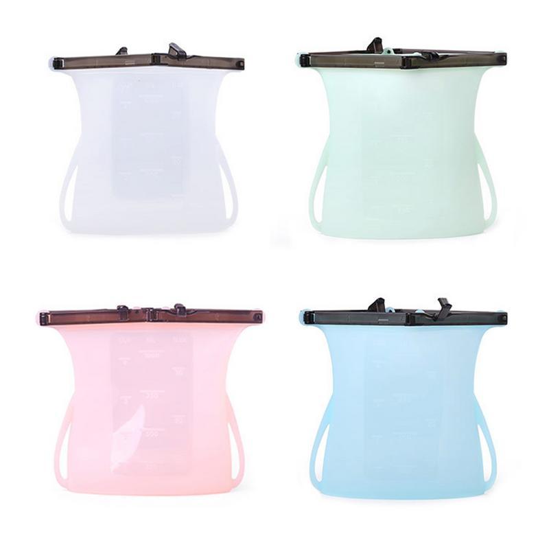 Silicone Fresh Bag Food Storage New Environmentally Friendly Reusable Folding Portable