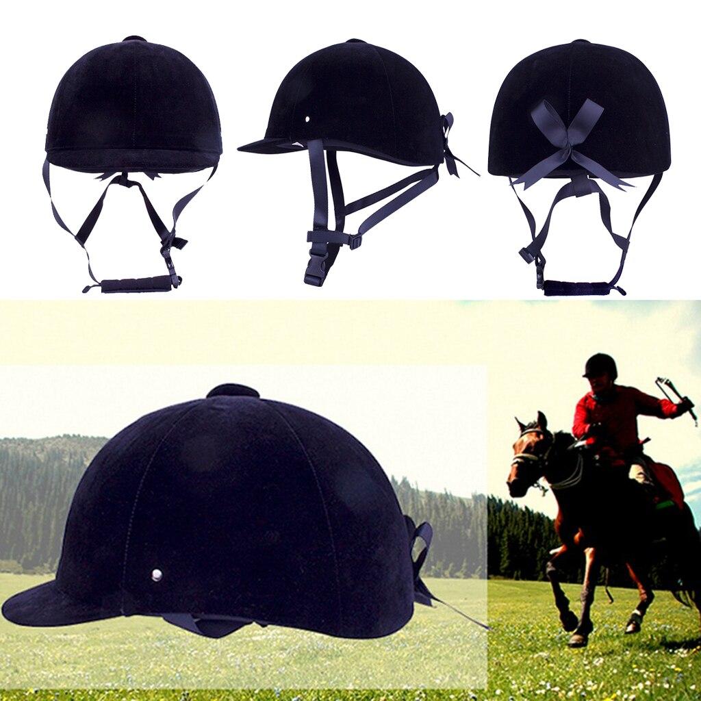 Breathable Velvet Horse Riding Helmet Equestrian Safety Head Protector