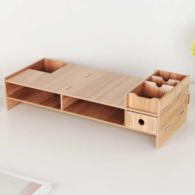 Office Table Accessories Monitor Laptop Stand Computer Screen Support Modern Office Desk Rack Shelf Makeup Wholesale Price