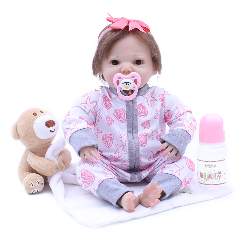 OtardDolls 1846cm Silicone bebe Reborn Doll Kids Playmate Gift for Girls Baby Soft Toys Bouquets Bebe