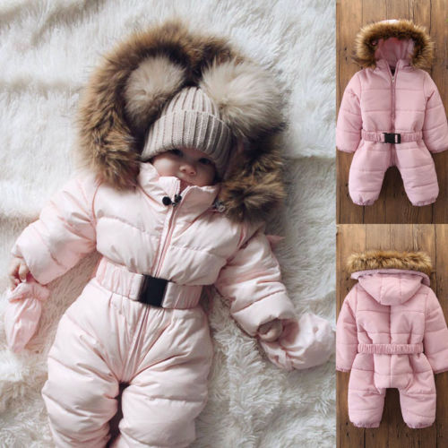 Jacket Outfit Jumpsuit Outwear Toddler Baby-Boy-Girl Winter Children Romper Thick Coat