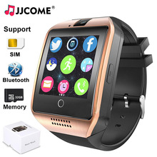 New Q18 Smart Watch Men SIM Card Bluetooth Phone Watch Sport Sync SMS Music Player SmartWatch Women Kids Watches For IOS Android iwo 5 smartwatch 42 mm case bluetooth smart watch for ios phone