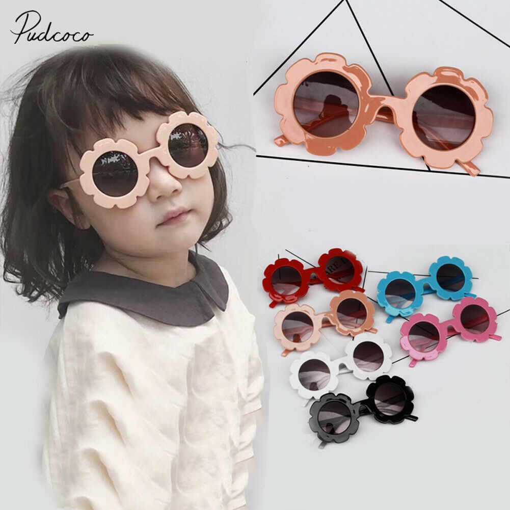 2019 Children Accessories Lovely Protection Glasses Toddlers Boys Kids Shades Flowers Adorable Sunglasses Kids Gift Wholesale