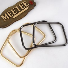 1Pair=2pcs Meetee Metal Bag Handle Buckles D Ring Luggage Hardware Accessories Clutch Clasp Belt Strap Decoration Buckle