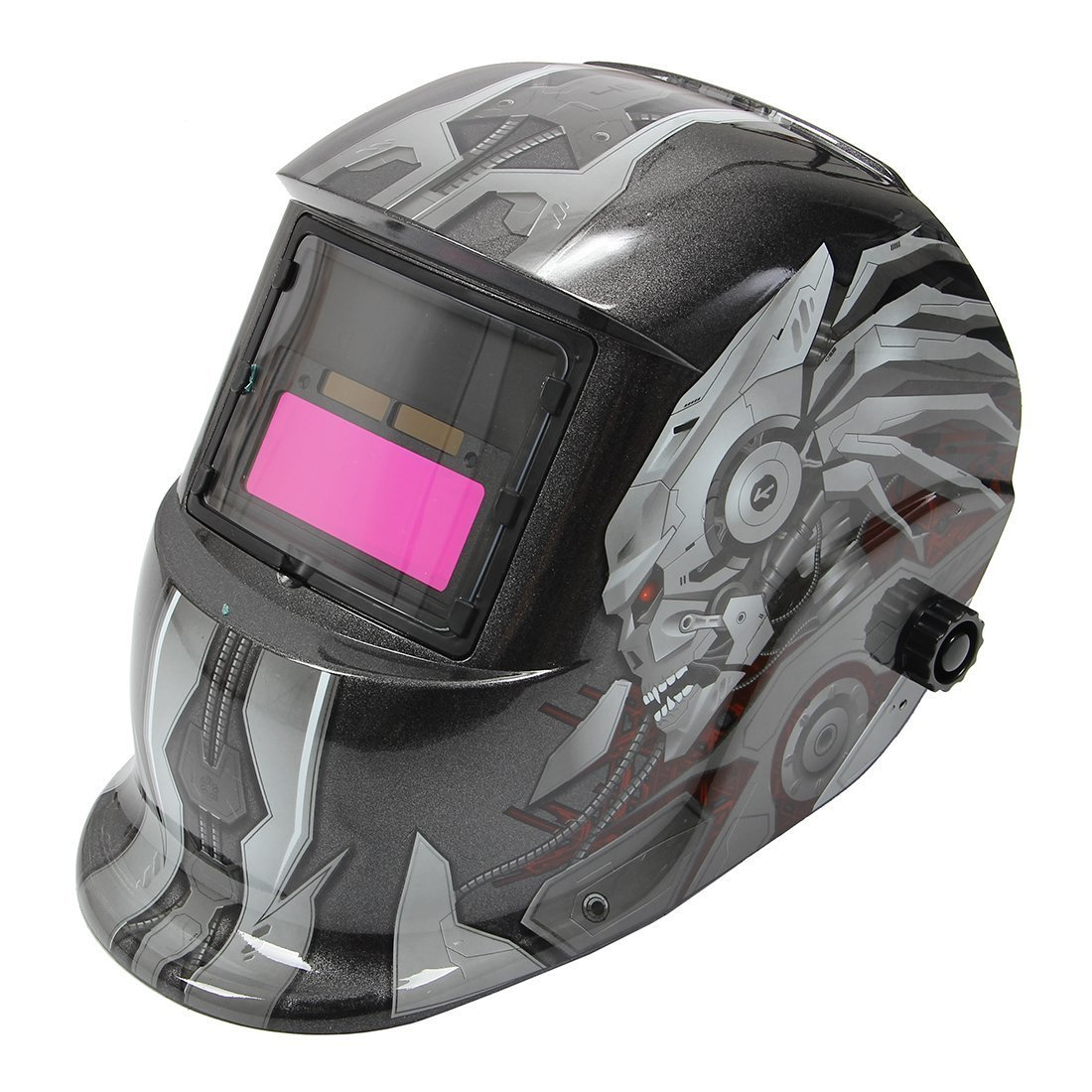 Skull Pattern Solar Auto Darkening Welding Helmet Mask Grinding Welder Mask Welding Protective Gear-Hot