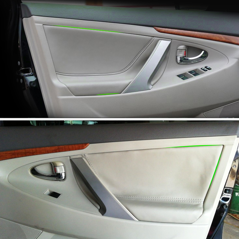 Car Interior Door Panel Microfiber Leather Cover Trim For Toyota Camry 2006 2007 2008 2009 2010 2011 2012
