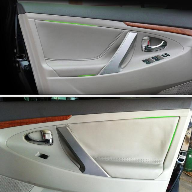 Car Interior Door Panel Microfiber Leather Cover Trim For Toyota Camry 2006 2007 2008 2009 2010 2011 2012
