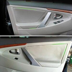 Image 1 - Painel da porta interior do carro microfibra capa de couro guarnição para toyota camry 2006 2007 2008 2009 2010 2011 2012