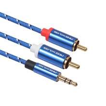 EastVita câble RCA 2RCA à 3.5 câble Audio RCA 3.5mm Jack RCA câble AUX pour amplificateur casque haut-parleur Y câble séparateur Cordr57