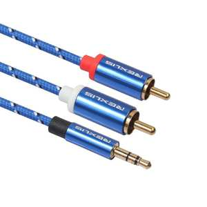 EastVita 2RCA 3.5mm RCA Cable for Amplifier to 3.5 Audio Cable RCA