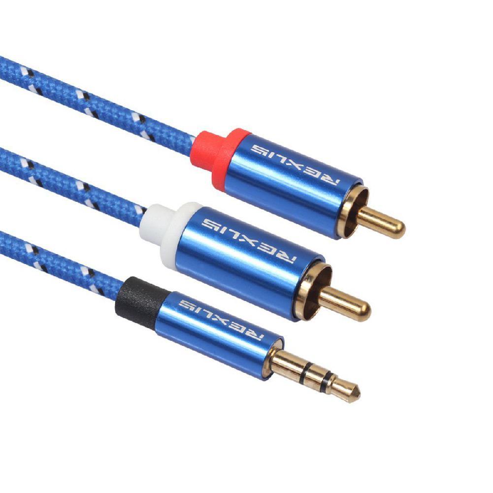 EastVita RCA Kabel 2RCA zu 3,5 Audio Kabel RCA 3,5mm Jack RCA AUX Kabel für Verstärker Kopfhörer Lautsprecher Y splitter Kabel