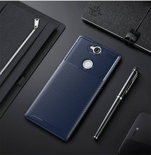 For Sony Xperia XA2 Plus Case Cover Carbon Fiber Silicone TPU Skin Soft Back Cover Phone Case for Sony Xperia XA2 XA2Plus anunob 6 5 cover for sony xperia 10 plus case silicone painted funda soft tpu phone case for sony 10plus back cover coque