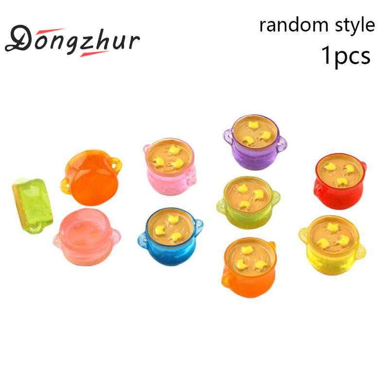 1 Pc 1:12 Doll House Mini Simulation Soup Pot 1/12 Dollhouse Miniature Kitchen Cookware Accessories Resin Miniature Toys To Win A High Admiration And Is Widely Trusted At Home And Abroad.