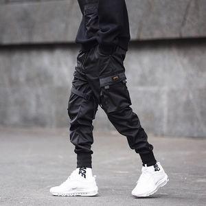 Image 5 - Dropshipping 2019 spring and summer new streamer pocket Harlan tooling pants Elastic Waist mens sweatpants tactical Pants