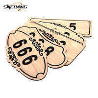 Door Number Self Adhesive Sticker Wood Board Acrylic House Number Customized Hotel Apartment Home Gate Digital Door Numbers