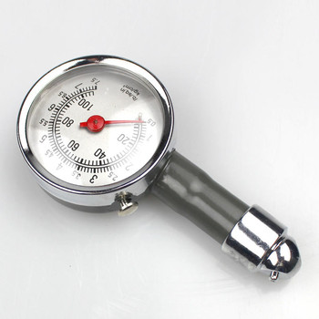 Analog Auto Wheel Tire Air Pressure Gauge Meter Handle Mirror Shaped Vehicle Motorcycle Car Tyre Tester Tyre Air Monitor System elecall nk 300 analog dynamometer force measuring instruments thrust tester analog push pull force gauge tester meter