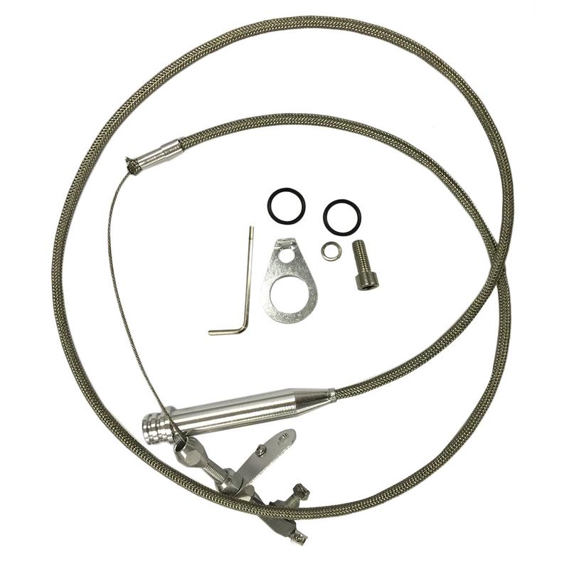 Gm 700r4 Transmission >> Stainless Steel Braided Cable Sbc Bbc For Gm 700r4
