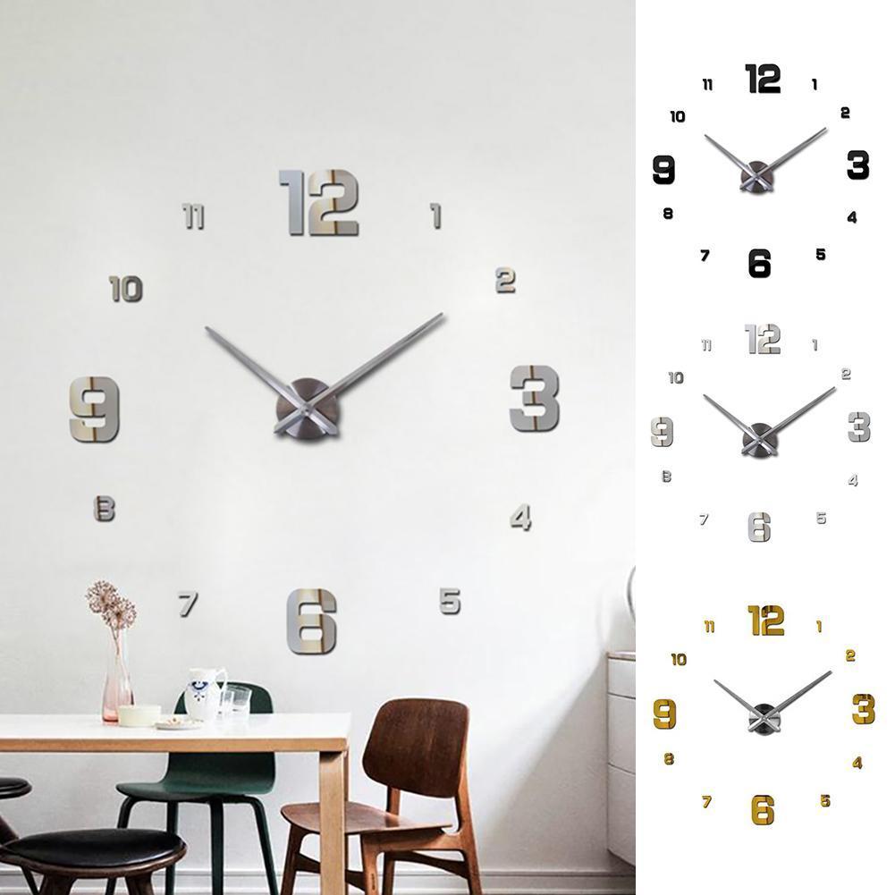 Creative 3d Wall Clock Diy Large Decorative Wall Clocks