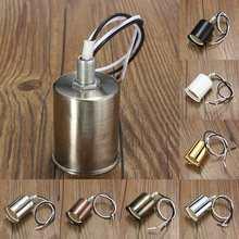 Цоколь E27, винтажный Ретро античный керамический светильник Эдисона с винтовым креплением, патрон для лампы, держатель, фитинг с проводом 230 В