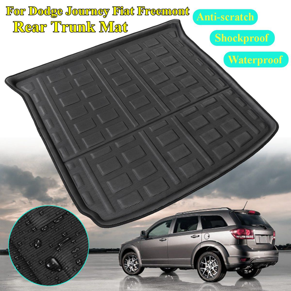 2 Style Rear Cargo Liner Boot For Dodge Journey For Fiat Freemont Seat Models 2009 2010 11-2018 5&7 Trunk Floor Mat Tray Carpet