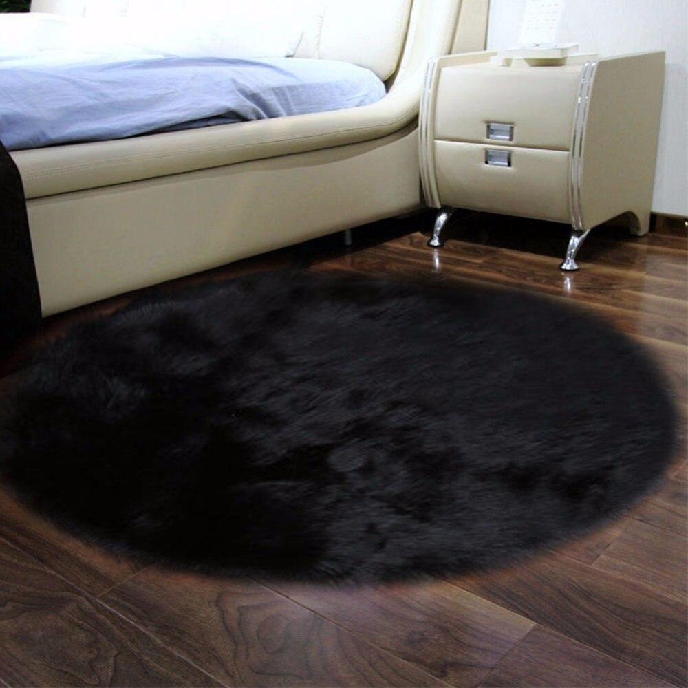Tapis moelleux antidérapants solides de tapis de porte de plancher de salle de bains de chambre à coucher pour le salon