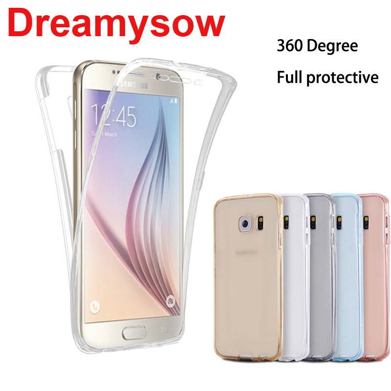 Clear Soft Phone Case For Samsung Galaxy Note9 8 A6 A8 Plus J6 J4 J8 2018 A3 A5 A7 J5 J7 2016 2017 Neo Prime Silicone Full Cover 360 degrees