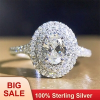 Ручной работы леди 100% Soild 925 пробы серебро кольцо из розового золота с изящным кристаллом 0.6ct Сона AAAAA Cz Обручение обручальное кольца для женщ