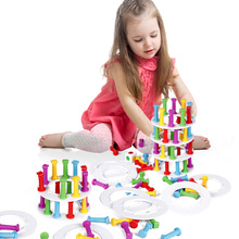 Plastic Color Stacking Blocks Toy Tower