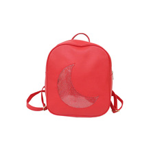 Women PU Leather School Bags for Teenage Girls Ita Bag Waterproof Backpack Harajuku Cute Moon Transparent Waterproof Backpacks ukqling brand cute cartoon bag small women backpack children backpacks for teenage girls child school bags pu leather