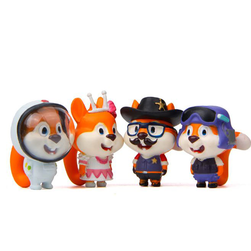 1 Pc New Arrival Squirrel Cosplay Astronaut Cartoon Animal Action Figure Toy Korean Creative Small DIY Doll Ornament Toy action figure pokemon