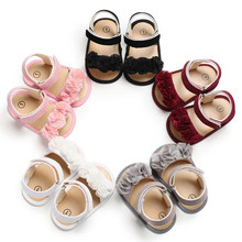 Summer Infant Baby Shoes Floral Moccasins Newborn Girls Non-