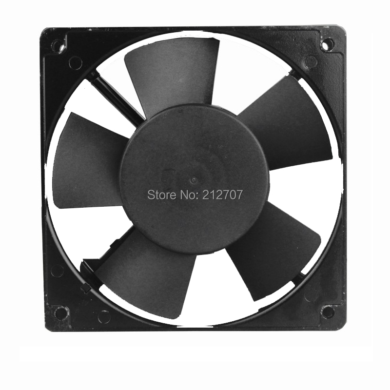 1pcs AC 220V 240V 12cm 120mm Two Ball Bearing 120mm x 25mm AC Axial Cooling Fan Indsutry Cooling Cooler Fan in Fans Cooling from Computer Office