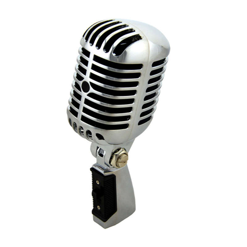 Professional Wired Vintage Classic Microphone Good Quality Dynamic Moving Coil Mike Deluxe Metal Vocal Old Style Ktv Mic Mike image