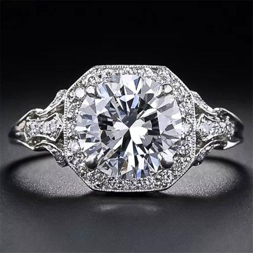 Zircon 14K Gold Diamond Rings for Woman Anillos De Bohemian Bizuteria Amethyst Bague Etoile Jewelry Diamante Gemstone 2019