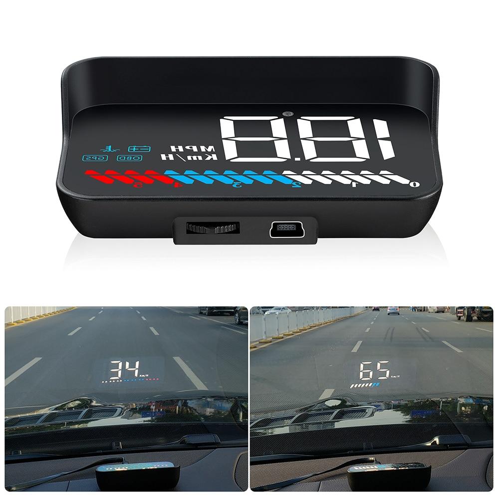 Original Auto Hud Head-up Display Überdrehzahl Alarm Warnung Mit Obd Ii Interface Digitale Projektion Für Tesla Modell 3 Bmw E46 E90 Ford Audi