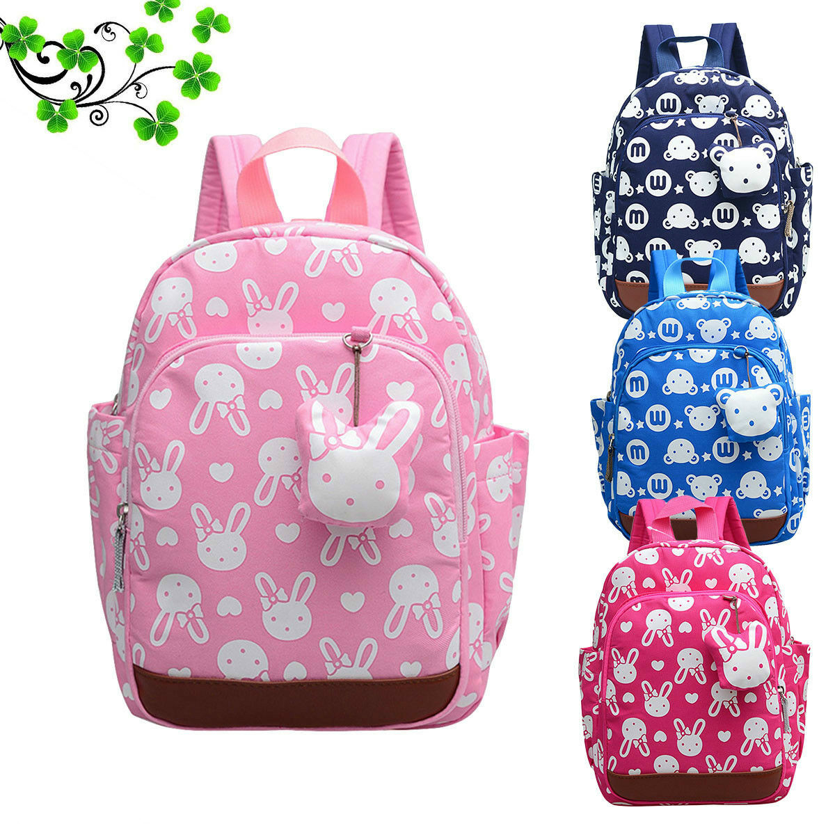 Baby Cartoon School Bag Toddler Kid Boy Girl Cute Rabbit Backpack Kindergarten Mini Backpack