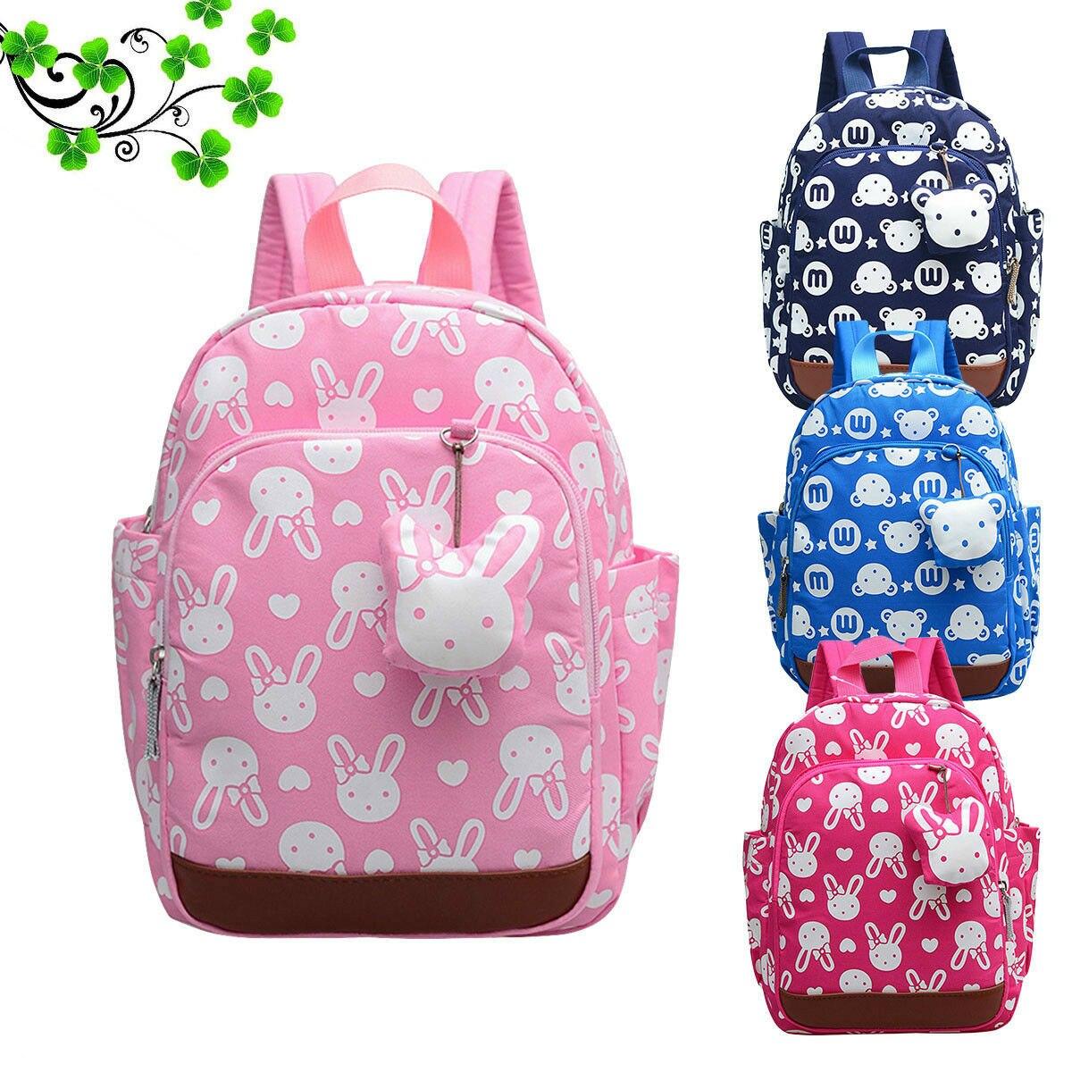 Baby Cartoon School Bag Toddler Kid Boy Girl Cute Rabbit Backpack Kindergarten Mini Backpack