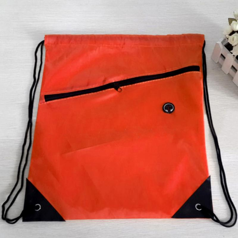 Man Women Drawstring Bags Swimming Beach Backpack Gym Sport Drawstring Shoes Backpack Drop Shipping
